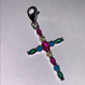 Beautiful Zirconia Cross In Royal Colors